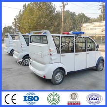2015 cheap electric car for wholesale 8 seats closed iron shell cruiser car