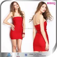 Ladies Summer Wholesale Red Bandage Club Dresses