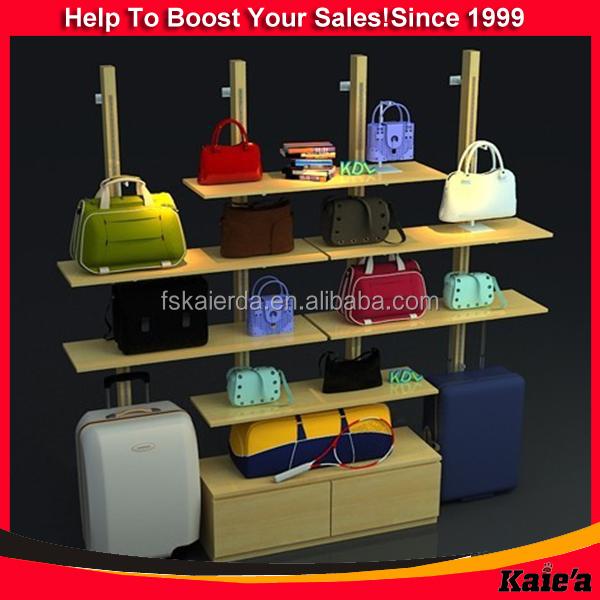 rak display toko tas: Disesuaikan tas desain toko tas rak display tas toko rak