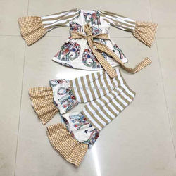 NEW 2015 Fashion baby girls clothing sets new arrival children dot polka cothing kids long sleeve outfits and sets