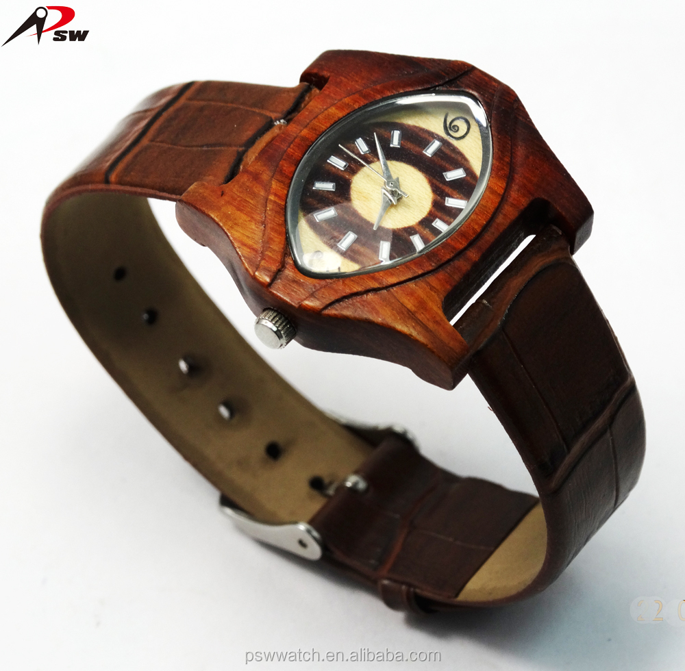 Shenzhen Factory Japan Quartz Watch Price Originality Genuine Leather Vintage Sandal wooden watch