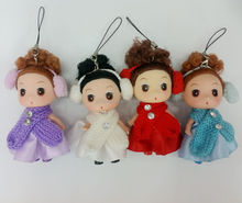 3.5inches little mini mixed colors clothes doll toy