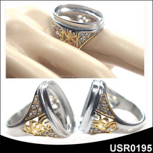 USR0195 male funky artificial crystal diamond ring jewelry
