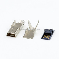 Mini USB connector 5pin male three pieces in 1 set