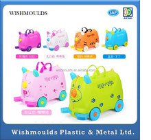 custom made Kids Suitcase for ride on / Mini Trolley Suitcase Injection Mould plastic molding