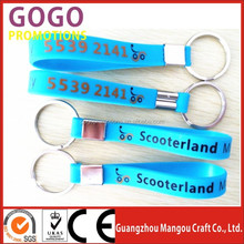 Newest product segmented silicone bracelet key ring, high quality custom made segmented silicone bracelet key ring for gifts