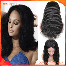 7A Brazilian Virgin Hair Body Wave Lace Front Wigs Glueless Full Lace Wigs With Baby Hair Bangs