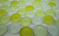 Yellow round glass bubble tiles mosaic for bathroom spa