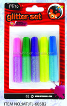 MTJFJ-6B12PX 6ml different colors non toxic glitter glue msds