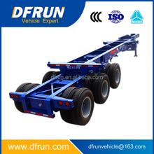 China manufacturer tandem or tridem axle chasis portacontenedores / semi remolques de triple eje para venta