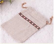 Wholesale High Quality Custom Logo Drawstring Small Jewelry Bag Cotton