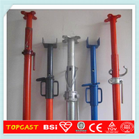 Adjustable Steel Scaffolding Shoring Props prop jack interior building construction with logo
