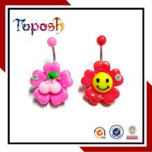 colorful flower shape customized body jewelry Design