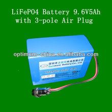 long cycle life rechargeable lifepo4 UPS batteries 5ah 9.6v battery