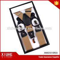 Genuine suspenders belt for men brown belt