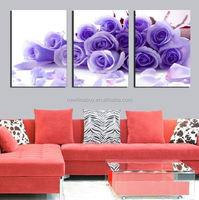 3 Piece Free Shipping Hot Sell Modern Wall Painting Home Decorative Art Picture Paint on Canvas Prints A bunch of blue roses