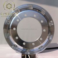 Aluminum 11r24.5 rim, 10x335mm alcoa truck wheels 22.5x9.00