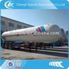 Factory supply 25 tons propane 60m3 LPG Tank Trailer