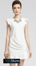 Hermosa sscshirts design100% barato oficina imágenes de vestir para damas