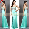 CY50653 New Long Sleeveless Green Lace Beaded Sexy Flower Tube Dress Woman Prom Weddiing Birthday Party Evening Dress
