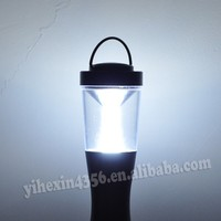White + Red Light LED Camping Flashlight Torch With Compass