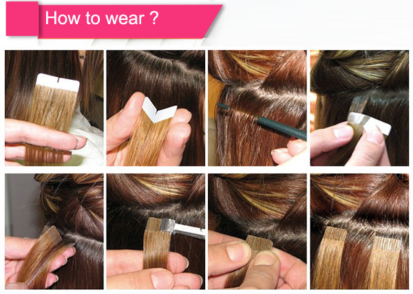 Как сделать из волос ленты для наращивания волос
