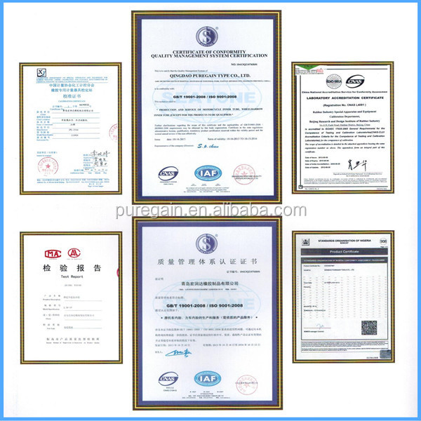 motorcycle tube certificate