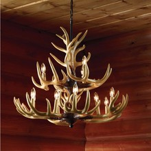 7.10-6 Rustic Deer Antler Chandelier - modern The Next Best Thing to Mounting Your Own 12-Point Rack
