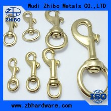 Brass clasps for making dog leashes brass material swivel snaps hooks for sale
