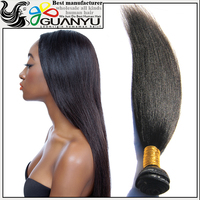 Wholesale 6A grade brazilian human hair weave,light yaki sew in hair extensions