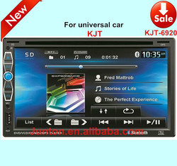 KJT Factory price car dvd player 2 din in dash universal car dvd player with fm antenna GPS bluetooth