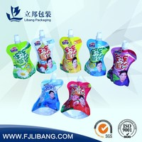 fruit juice jelly spout pouch stand up pouch bags