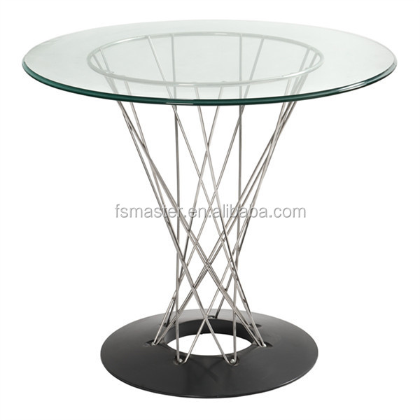 Metal Cyclone Dining Table With Glass Top Buy Cyclone Dining Table