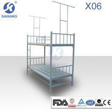 Double Crank Hospital Bed With Central Brake Castors Made In China