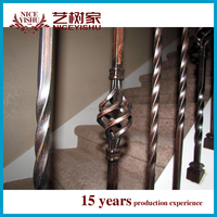 Hebei Wholesale iron railings from China terrace railing designs/wrought iron railing parts/wrought iron balcony railing