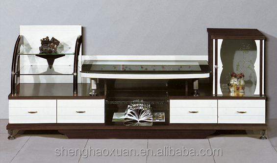 Modern Living Room Wooden Led Tv Stand Tv Cabinet Showcase