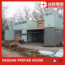 Two floors portable residential house with insulated walls and rain drain function