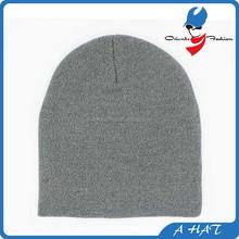 plain cheap 100% acrylic knit long beanie/ winter hats