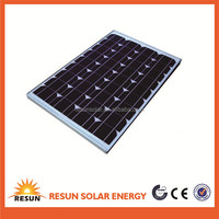 Best price high efficiency solar cell 120 w monocrystalline PV solar panel price