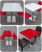 restaurant dinning table and chairs , acrylic solid surface table