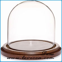 2015 NEW products glass dome with base HOT selling fashion style glass cake dome CHEAP wholesale glass dome