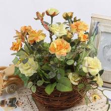 Handmade DIYArtificial Flower Pe Rose Home Wedding Car/ Box Decoration