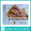 hot sell stock cheap aphrodite brew fruit herbal incense bag with zipper