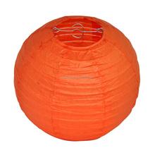 wholesale Orange Round Paper Lanterns for Wedding Party Birthday Prom Ball Decor