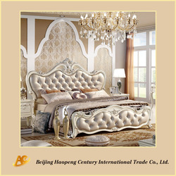 Europe Romantic King Size Bed Bedroom Furniture Price