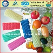 2015 Top Selling Expandable Disposable Cheap Food Grade EPE Foam Fruit Packing Protective Sleeve Net