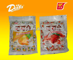 Dafa cute rabbit fruit center fiiled soft chewy milk candy
