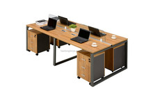 fashion and durable steel-wood computer desk cheap modern table