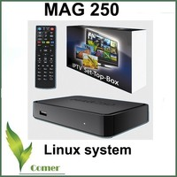 Free shipping linux system mag 250 IPTV Box Android TV Box plus IPTV