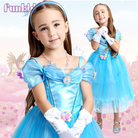 2015 new latest flower cinderella dress, butterfly cinderella dress in movie costume
